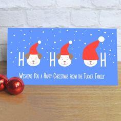 Personalised Fido HO HO…OH Dogs Christmas Card