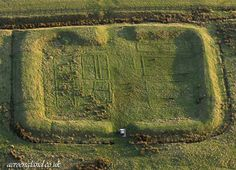 aerial photograph of Castleshaw  Roman fort