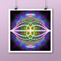 Quaternity Squared Art Print by Artist Jeff Dufour 12x12 Metaphysical Energy #Abstract