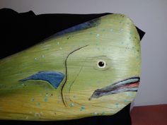 """Close up of """"Palm Frond"""" Art by """"Dale Werner"""" of Southwest Florida """"Mahi Mahi"""" or """"Dolphin Fish""""   www.dalewerner.com"""