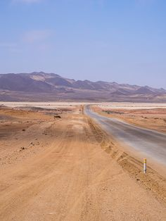 Namibia, coastal road between Swakopmund and Cape Cross Land Of The Brave, Sunrise Colors, Africa Destinations, Seaside Towns, Travel Planner, Rest Of The World, Landscape Photography, Scenery, Around The Worlds