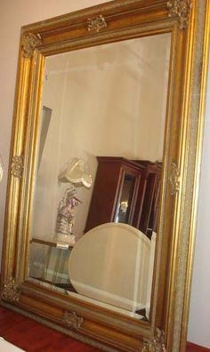 Big Antique Mirror gold Antique Gold Mirror, Mirror Inspiration, Diy Mirror, My House, Oversized Mirror, Space, Antiques, Big, Home Decor