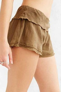 Ecote Fold-Over Short - Urban Outfitters