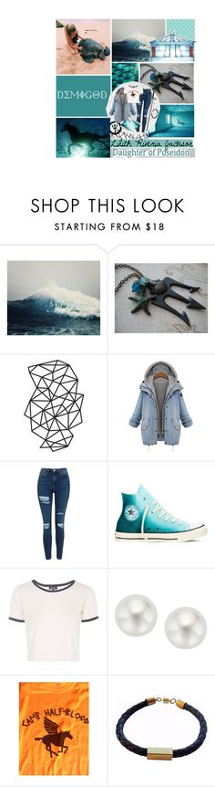 """""""Lilith Riveria Jackson daughter of Poseidon"""" by squidney12 ❤ liked on Polyvore featuring Nicole Miller, Topshop, Converse and Pearlyta"""