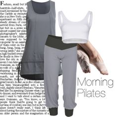 Morning Pilates Lesson, clothing from www.dancinginthestreet.com