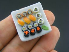 Thats about as much Sushi as I could handle, but oh so small, boy someone has nimble fingers