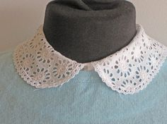 broderie anglaise collar peter pan style van Histoires op Etsy 22,50