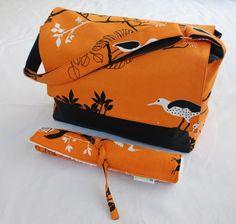Bright nappy bag