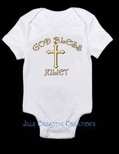 Baptism T-Shirt, God Bless