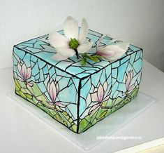Stained Glass Cake - by Benja @ CakesDecor.com - cake decorating website