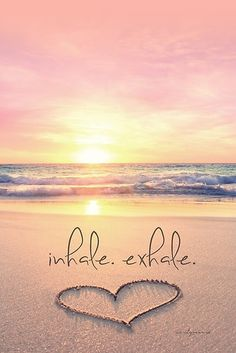 It's a NEW DAY! Inhale positivity, happiness and light. Exhale stress, sadness and fear. Feed your soul with good thoughts and let everything else . go ☀️ Just breathe. I Love The Beach, Beautiful Beach, Beautiful Pictures, Romantic Beach, Sunny Beach, All Nature, Am Meer, Belle Photo, Inspirational Quotes