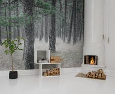 Hey, look at this wallpaper from Rebel Walls, Pine Forest! #rebelwalls #wallpaper #wallmurals