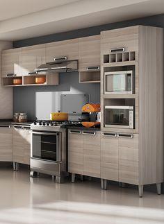 Cozinhas de Madeira | Cozinhas Itatiaia Kitchen Design, Kitchen Cabinets, Kitchens, House, Home Decor, Timber Kitchen, Triple Bunk Beds, Small Kitchens, House Decorations