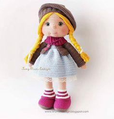 Вязаная кукла амигуруми крючком
