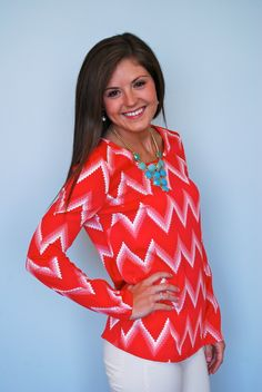 We love this variation of the popular chevron trend!  Sunrise Chevron