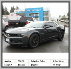 2013 Chevrolet Camaro LS Coupe  Power Remote Trunk Release, Wheel Diameter: 18, Tachometer, Strut Front Suspension, Speed Sensitive Audio Volume Control, In-Dash Single Cd Player, Cloth Seat Upholstery, Remote Activated Exterior Entry Lights, Metal-Look Dash Trim, Black Grille, Independent Rear Suspension, Cargo Tie Downs, Tires: Prefix: P, Rear Shoulder Room: 50.4, Front Sport Seat, Suspension Class: Firm, Interior Air Filtration, Remote Power Door Locks