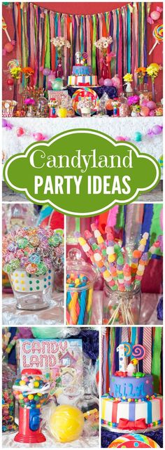 How amazing is this Candyland first birthday party!