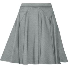Mason by Michelle Mason Stretch-knit mini skirt ($99) ❤ liked on Polyvore featuring skirts, mini skirts, grey, short skirts, elastic waist skirt, mini flare skirt, flare skirt and flared skirt