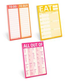 $16  Loving this What to Eat & What to Buy Note Pad Set on #zulily! #zulilyfinds