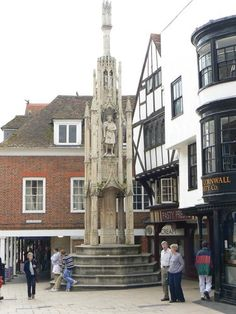 The Buttercross, Winchester - UK.....I sat on this and I ate the cornish pasty shop next to it..in that big round window.  Good times:)