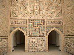Muslim Swastika Entrance to Poi Kolon Mosque Uzbekistan https://selfuni.wordpress.com/2015/03/02/muslim-use-of-the-swastika/