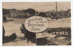Greetings from Bitterne Park Southampton England, Vintage Christmas Photos, Old Pictures, Family History, Park, Places, Postcards, Outdoor, Outdoors
