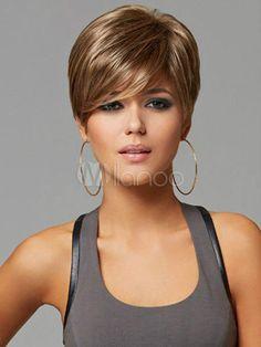 Mode Perücke Neu Sexy Damen Kurz Wie Echthaar Mix Blonde Naturhaar-Perücken in Beauty & Gesundheit, Haarpflege, Perücke & Haarverlängerungen | eBay
