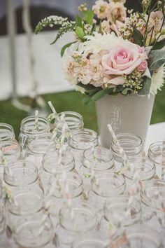 Pink DYI wedding reception.