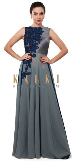Buy Online from the link below. We ship worldwide (Free Shipping over US$100). Product SKU - 275179. Product Price - $339.00. Product link - http://www.kalkifashion.com/grey-suit-featuring-in-resham-embroidery-only-on-kalki.html