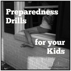 Don't just teach your kids about safety and emergencies. Actually go through preparedness drills. Here are 8 drills your family needs.