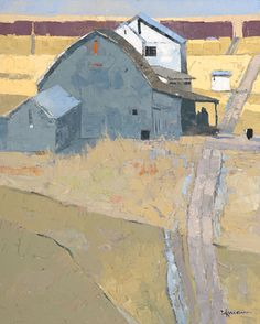 Dinah K. Worman, Road to Gray Barn, oil, 20 x 16.