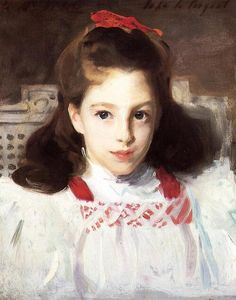 「ミス・ドロシー・ヴィカーズの肖像」1884年ジョン・シンガー・サージェントJohn Singer Sargent, Portrait of Miss Dorothy Vickers