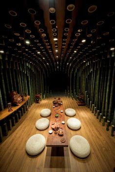 Shanghai design studio MINAX have recently completed a tea room for the 2014 China International Aquilaria Culture Exposition & Living Space Exhibition.