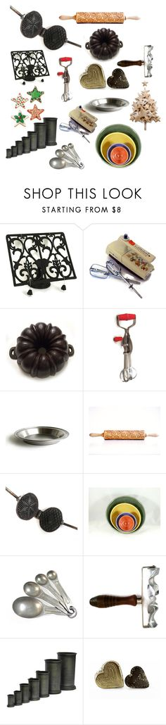 """""""Christmas Baking"""" by patack ❤ liked on Polyvore featuring interior, interiors, interior design, home, home decor, interior decorating, West Bend, kitchen and vintage"""