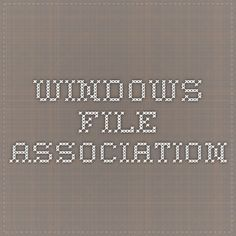 Windows File Association