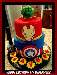Elegant Picture of Avengers Birthday Cake Ideas . Avengers Birthday Cake Ideas I Did This Cake For My Grandson Who Is Obsessed Beautiful Cakes Avengers Birthday Cakes, Hulk Birthday, Superhero Birthday Party, Boy Birthday Parties, Cake Birthday, 5th Birthday, Birthday Wishes, Birthday Ideas, Happy Birthday