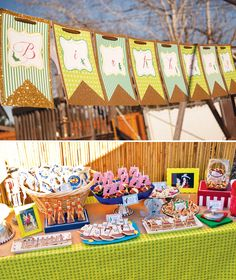 Magical Peter Pan Party {4th Birthday} Goody table