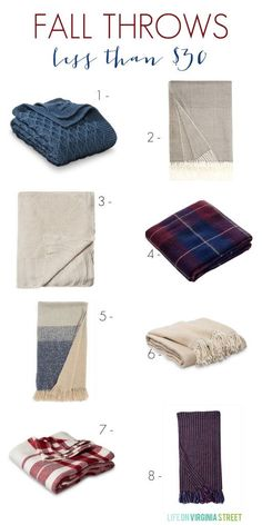 Cozy Fall Throws for Less Than $30 - Life On Virginia Street