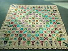 Look at this beautiful Dear Jane quilt. I am just starting mine and hope it doesn't take years to make:) Made in Ireland