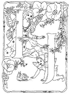 Fairies Alphabet Coloring Pictures For