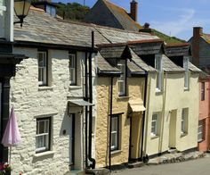 Fisherman's Cottages, Port Isaac, north Cornwall, UK - filming location for Doc Martin