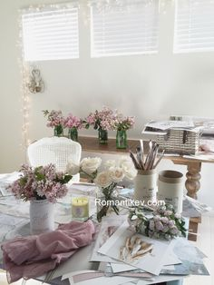 Romantic home My messy desk today Shabby chic working place Romantic country