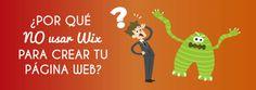 ¿Por qué NO usar Wix para crear la página web de tu empresa? #disenoWeb #desarrolloweb #wix http://blgs.co/ryI5VP