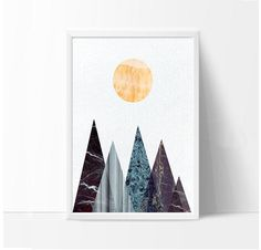 * Scandinavian Print Geometric Print Scandinavian Art Mountain Poster Scandinavian Home Nordic Print Modern Abstract Art Geometry Decor *  Welcome to my Instant download shop!  https://www.etsy.com/shop/VividPictures?ref=hdr_shop_menu  Modern and minimalist art you download and print yourself. A quick and affordable way to add beautiful new artworks to your walls  What you get:  1 JPG File ------------- Dimensions:  File are High Resolution 300 DPI and 16 inches x 20 ...