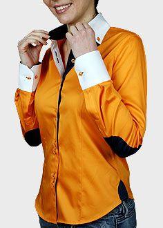 Shirt Blouses, Shirts, Button Down Collar, Rain Jacket, Windbreaker, Orange, Elegant, Jackets, Women