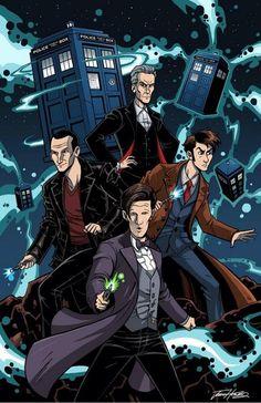 doctor who doctors Doctor Who Fan Art, Doctor Who Funny, I Am The Doctor, Doctor Who 10, 4th Doctor, Eleventh Doctor, Serie Doctor, Quad Squad, Digital Foto
