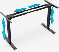 adjustable gaming desk frame