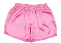 From 16.90 Sexy Pink 100% Charmeuse Silk Mens Boxer Shorts Underwear New (large)