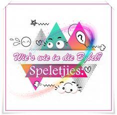 Bybel Speletjies: Wie's wie in die Bybel? Minute To Win It, Charades, Speed Dating, Tic Tac Toe, Matching Games, Afrikaans, Emoji, The Emoji, Emoticon