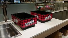 A closeup sample of some Smoke's Poutinerie graphics - Digital print sneezeguard graphics and Bain Marie wraps. #vinylgraphics #branding  www.SpeedproDurham.ca